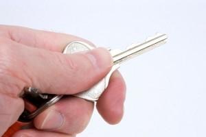 sleutel in de hand