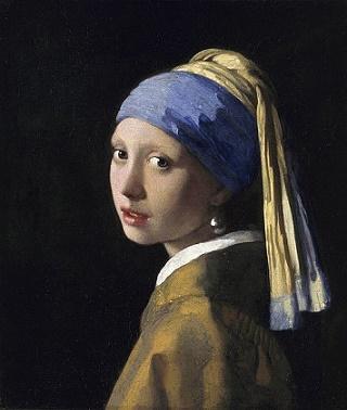 schilderij meisje met de parel van Vermeer in museum Den Haag